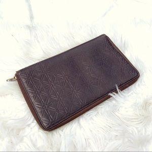 Comme des Garcons Brown Leather Wallet Clutch!